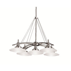 Brushed Nickel Five-Light Chandelier