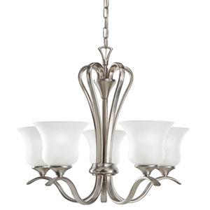 Wedgeport Brushed Nickel Five-Light Chandelier