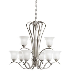 Wedgeport Brushed Nickel Nine-Light Chandelier