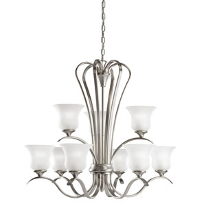 Wedgeport Brushed Nickel 32-Inch Nine-Light Energy Star Two Tier Chandelier
