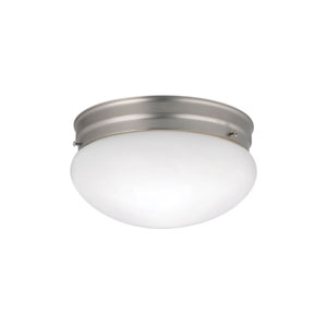 Ceiling Space Brushed Nickel Two-Light Flush Mount