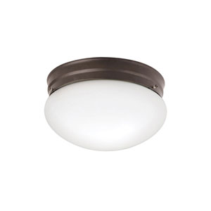 Ceiling Space Olde Bronze Two-Light Flush Mount