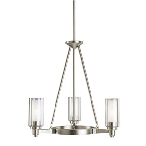 Circolo Brushed Nickel Three-Light Chandelier