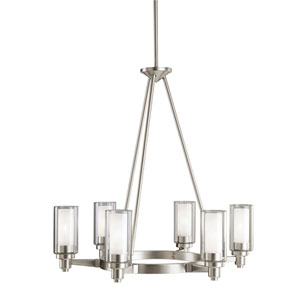Circolo Brushed Nickel Six-Light Chandelier