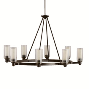 Circolo Olde Bronze Eight-Light Oval Chandelier