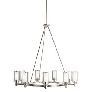 Circolo Brushed Nickel Nine-Light Chandelier
