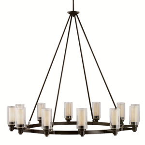 Circolo Olde Bronze Twelve-Light Chandelier