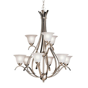 Dover Brushed Nickel Nine-Light Chandelier