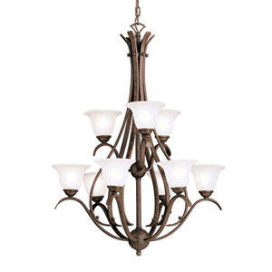 Dover Tannery Bronze Nine-Light Chandelier