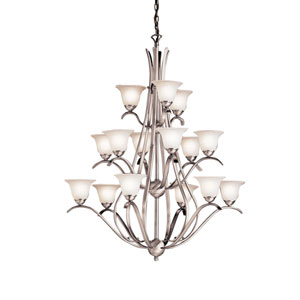 Dover Brushed Nickel Fifteen-Light Chandelier