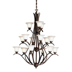 Dover Tannery Bronze Fifteen-Light Chandelier