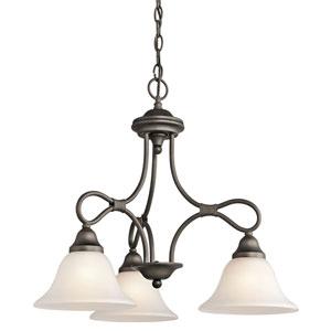 Stafford Olde Bronze Three-Light Chandelier