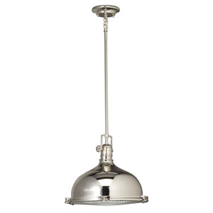 Polished Nickel Dome Pendant