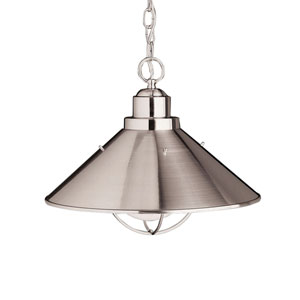 Seaside Brushed Nickel Dome Pendant