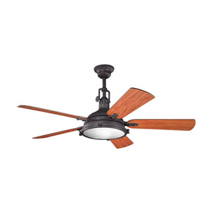 Hatteras Bay Distressed Black Ceiling Fan
