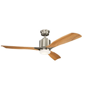 Ridley II Brushed Stainless Steel 52-Inch LED Ceiling Fan