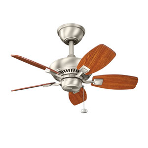 Canfield 30-Inch Brushed Nickel Ceiling Fan