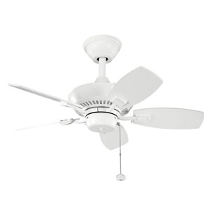 Canfield 30-Inch White Ceiling Fan