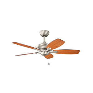 Canfield 44-Inch Brushed Nickel Ceiling Fan