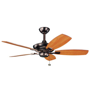 Canfield 44-Inch Oil Rubbed Bronze Ceiling Fan