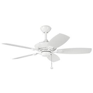 Canfield 44-Inch White Ceiling Fan