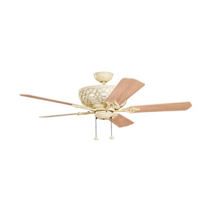 Cortez Aged White Four Light Ceiling Fan