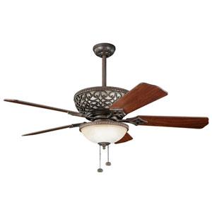 Cortez 52-Inch Tannery Bronze Ceiling Fan