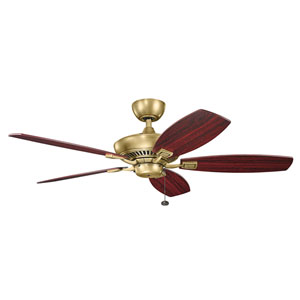 Canfield Natural Brass Ceiling Fan