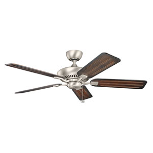 Canfield 52-Inch Brushed Nickel Ceiling Fan