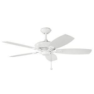 Canfield 52-Inch White Ceiling Fan