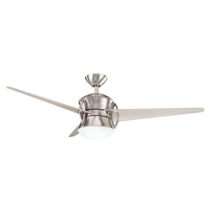 Cadence Brushed Stainless Steel One-Light 54-Inch Ceiling Fan