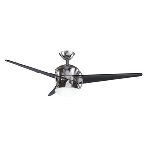 Cadence Midnight Chrome One-Light 54-Inch Ceiling Fan