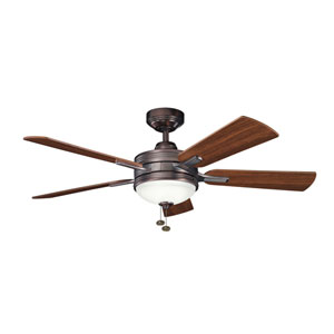 Logan Oil Brushed Bronze 52 Inch Ceiling Fan