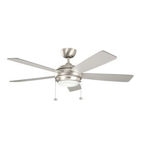 Starkk Brushed Nickel One Light Ceiling Fan