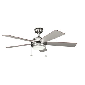 Starkk Polished Nickel One Light Ceiling Fan