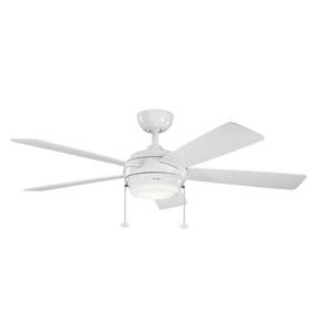 Starkk White One Light Ceiling Fan