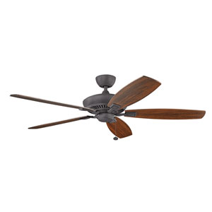 Tulle Distressed Black 60-Inch Fan