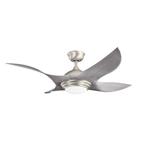 Shuriken Brushed Nickel 52-Inch Fan