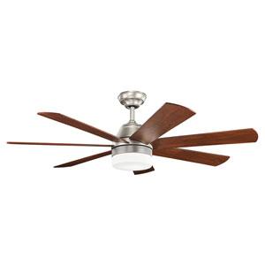 Ellys Brushed Nickel Ceiling Fan with Light Kit