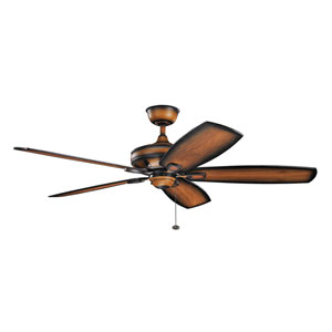 Ashbyrn Mediterranean Walnut Ceiling Fan