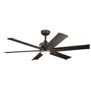 Szeplo Patio Olde Bronze 60-Inch Wet Location LED Ceiling Fan