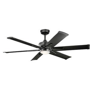 Szeplo Patio Satin Black 60-Inch Wet Location LED Ceiling Fan