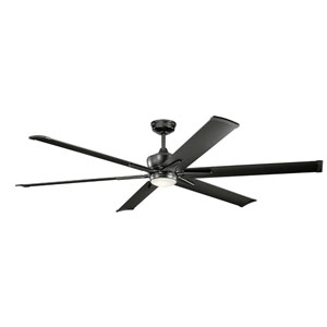 Szeplo Patio Satin Black 80-Inch Wet Location LED Ceiling Fan