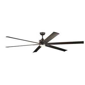 Szeplo Patio Olde Bronze 96-Inch Wet Location LED Ceiling Fan