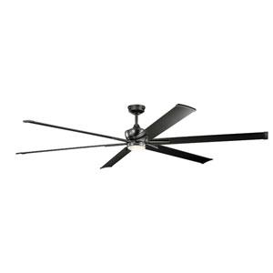 Szeplo Patio Satin Black 96-Inch Wet Location LED Ceiling Fan