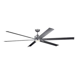 Szeplo Patio Weathered Steel Powder Coat 96-Inch Wet Location LED Ceiling Fan