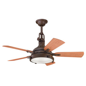 Hatteras Bay Patio Tannery Bronze Four-Light 44-Inch Ceiling Fan
