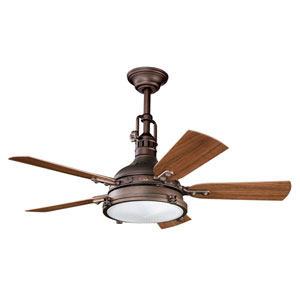Hatteras Bay Patio Weathered Copper Four-Light 44-Inch Ceiling Fan