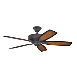 Monarch II Patio Distressed Black Indoor and Outdoor Ceiling Fan