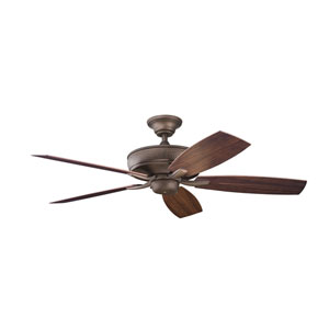 Monarch II Patio Weathered Copper Powder Coat 52-Inch Energy Star Ceiling Fan with Reversible Walnut Blades